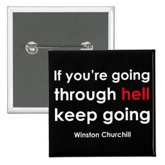 Winston Churchill 2 Inch Square Button