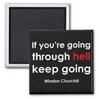Winston Churchill 2 Inch Square Magnet