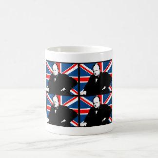 Winston Churchill and Union Jack Coffee Mug