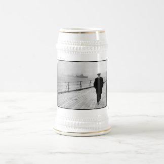 Winston Churchill At Sea Beer Stein