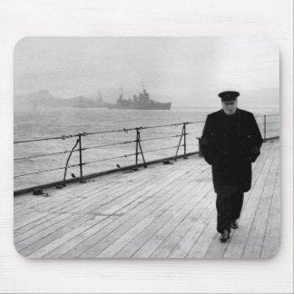 Winston Churchill At Sea Mouse Pad