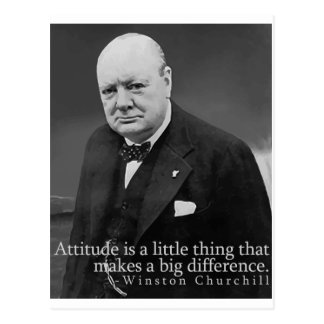 Winston Churchill Attitude Postcard