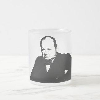 Winston Churchill -- Black and White Coffee Mugs