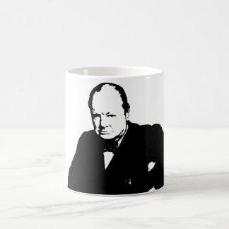 Winston Churchill -- Blanco y negro Tazas