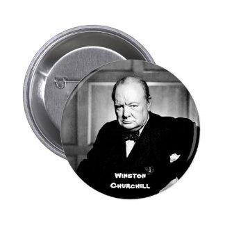 Winston Churchill Pinback Buttons