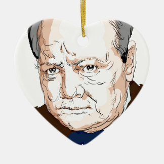 Winston Churchill Ceramic Ornament