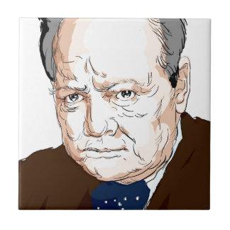 Winston Churchill Ceramic Tile