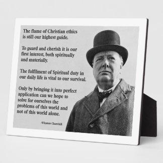 Winston Churchill Christian Plaque