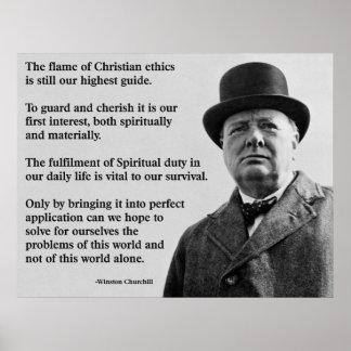 Winston Churchill Christian Print