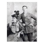 Winston Churchill con el suyo madre 2 Postales