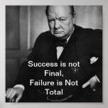 Winston Churchill - Desk Poster - Success
