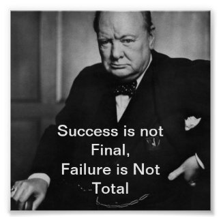 Winston Churchill - Desk Poster - Success