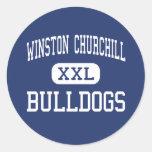 Winston Churchill - dogos - alto - Potomac Pegatina Redonda