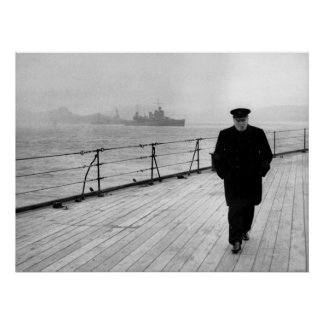 Winston Churchill en el mar Póster
