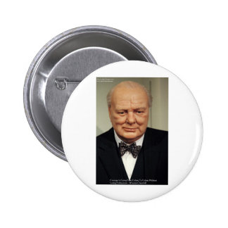 Winston Churchill Failure Wisdom Quote Gifts Pinback Buttons