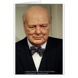 Winston Churchill Failure Wisdom Quote Gifts Card