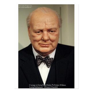 Winston Churchill Failure Wisdom Quote Gifts Postcard