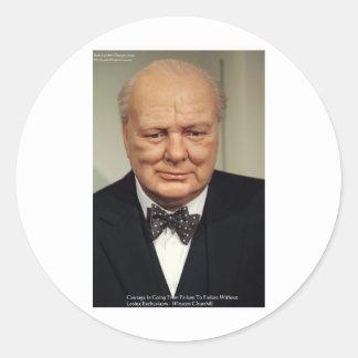 Winston Churchill Failure Wisdom Quote Gifts Stickers