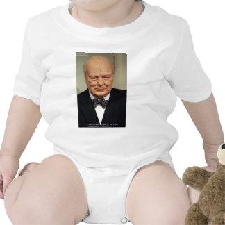 Winston Churchill Failure Wisdom Quote Gifts Romper