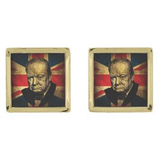 Winston Churchill Gold Cufflinks