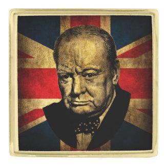 Winston Churchill Gold Finish Lapel Pin