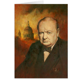 Winston Churchill Greetings Card