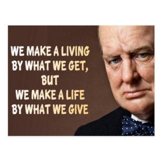 Winston Churchill hacemos una vida Postal
