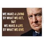 Winston Churchill hacemos una vida Tarjetón