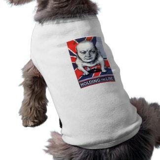 Winston Churchill -- Holding The Line! Pet T Shirt