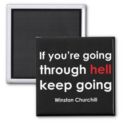 Winston Churchill Imán Cuadrado