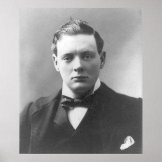 Winston Churchill joven Posters