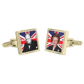 Winston Churchill & Margaret Thatcher Gold Cufflinks