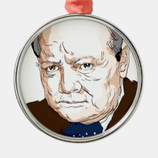 Winston Churchill Metal Ornament