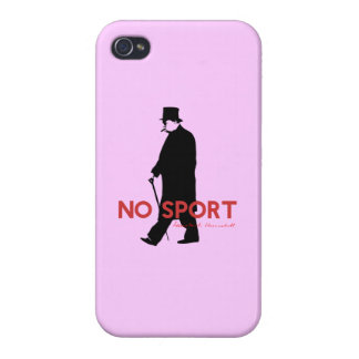 Winston Churchill, No Sport Cover For iPhone 4