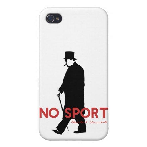 Winston Churchill, No Sport iPhone 4 Covers