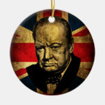 Winston Churchill Double-Sided Ceramic Round Christmas Ornament