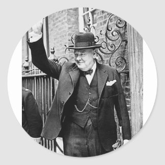 Winston Churchill Etiquetas Redondas