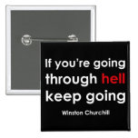 Winston Churchill Pin Cuadrado
