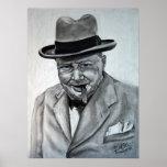 Winston Churchill Póster