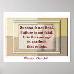 Winston Churchill - poster de la cita
