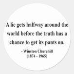 Winston Churchill Quote 11a Classic Round Sticker