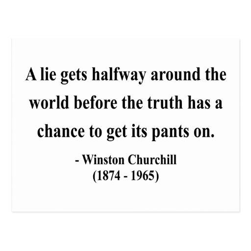Winston Churchill Quote 11a Postcard