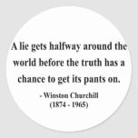 Winston Churchill Quote 11a Sticker