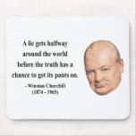 Winston Churchill Quote 11b Mouse Pads