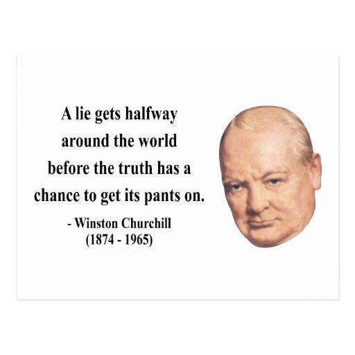 Winston Churchill Quote 11b Postcards
