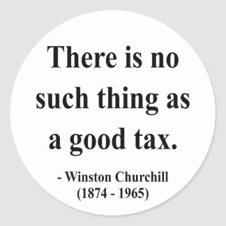 Winston Churchill Quote 14a Round Stickers