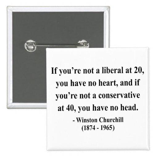 Winston Churchill Quote 15a 2 Inch Square Button
