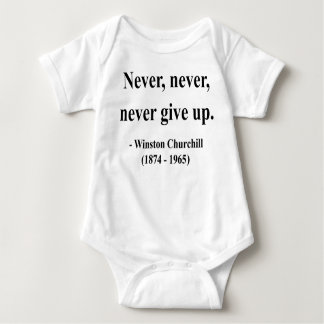 Winston Churchill Quote 1a Baby Bodysuit