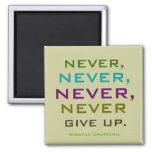 winston churchill quote 2 inch square magnet