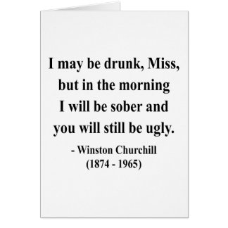 Winston Churchill Quote 2a Card